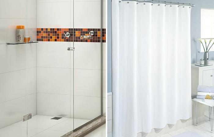 Box de vidro ou cortina no banheiro?